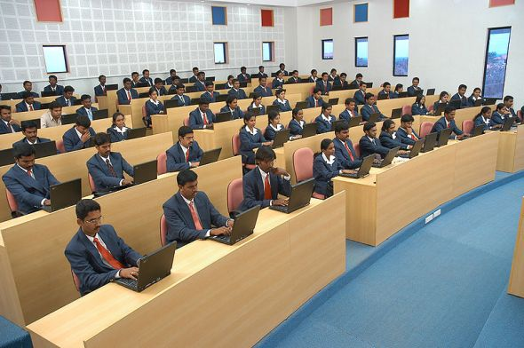 Classroom in Jansons School of Business, Coimbatore, India