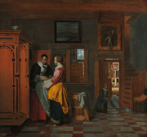 At the Linen Closet 1663 Pieter de Hooch
