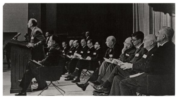 U.S. Surgeon General Luther Terry addressing press conference at the release of the 1964 Report on Smoking and Health
