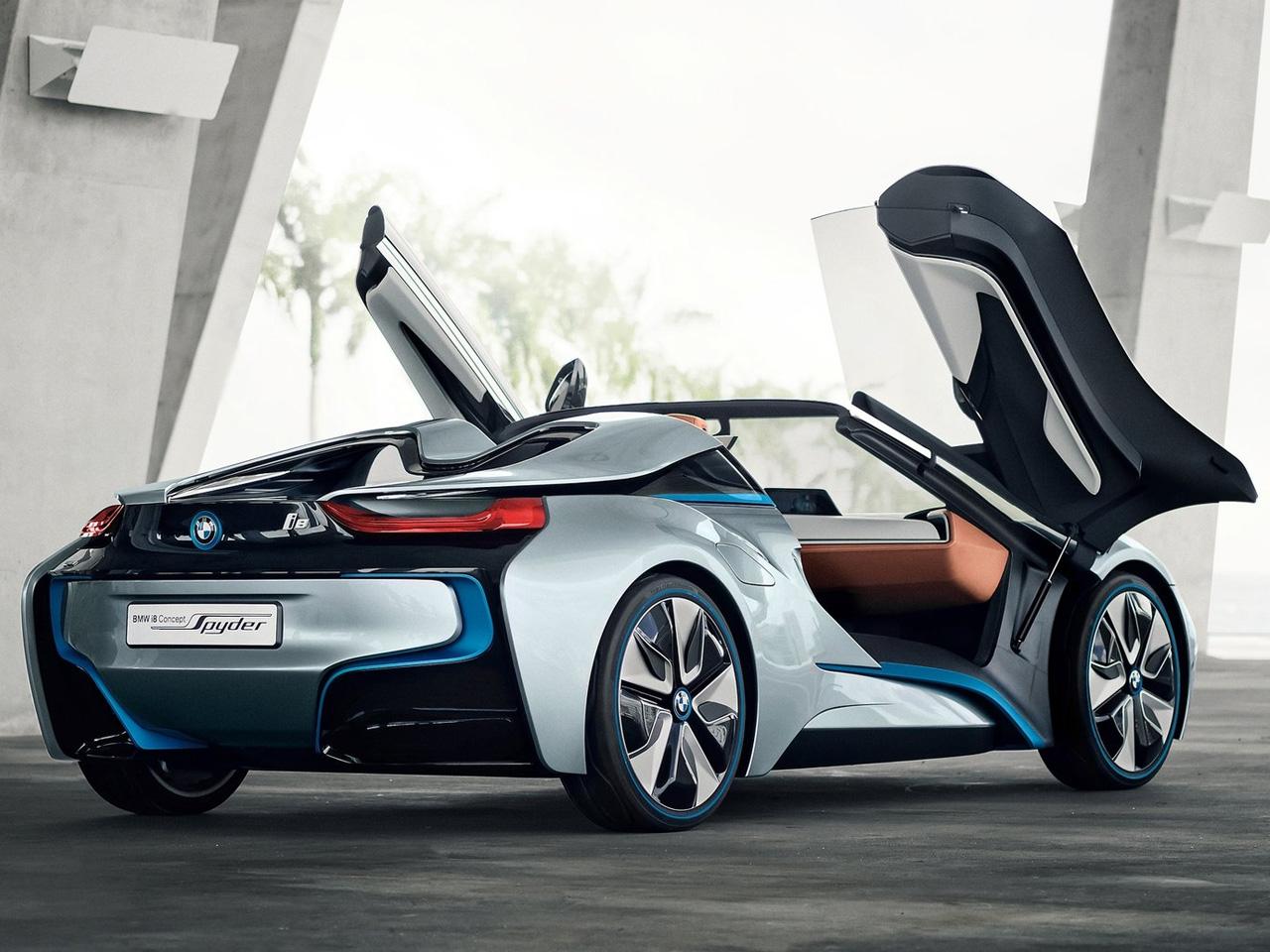 2012 BMW I8 Spyder Concept Rear Angle Door