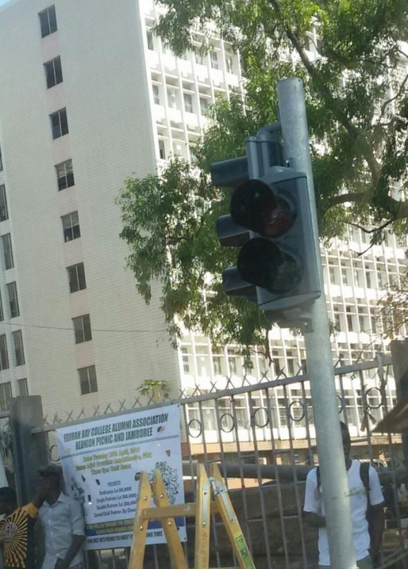 Sierra Leone's traffic light