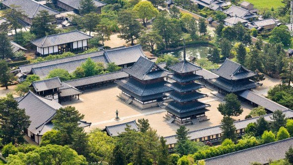 Temple of the Flourishing Law, Nara Japan